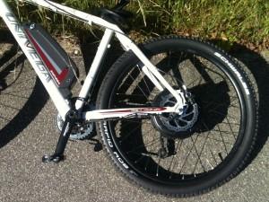 elektrisk mountainbike, motor og batteri