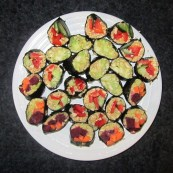 raw food sushi, frokost