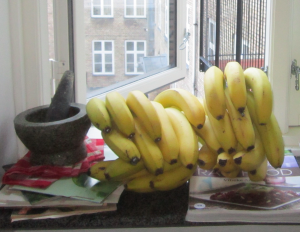 raw food, bananer