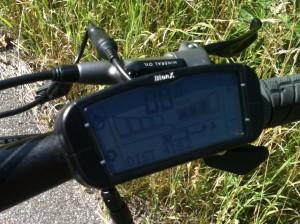 elektrisk mountainbike, display