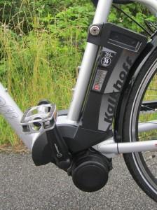 Kalkhoff elcykel, batteri og motor