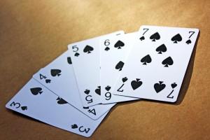 Spillekort til at blande kort