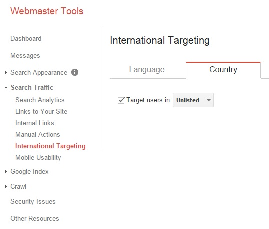 Google Webmaster Tools, Unlisted