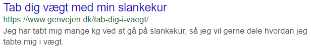 Titel og meta description, lav CTR